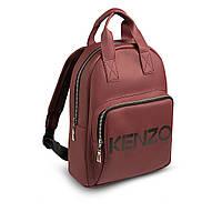 Стильний шкіряний жіночий рюкзак KENZO, кензо. Бордовий, фото 2