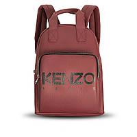 Стильний шкіряний жіночий рюкзак KENZO, кензо. Бордовий, фото 3