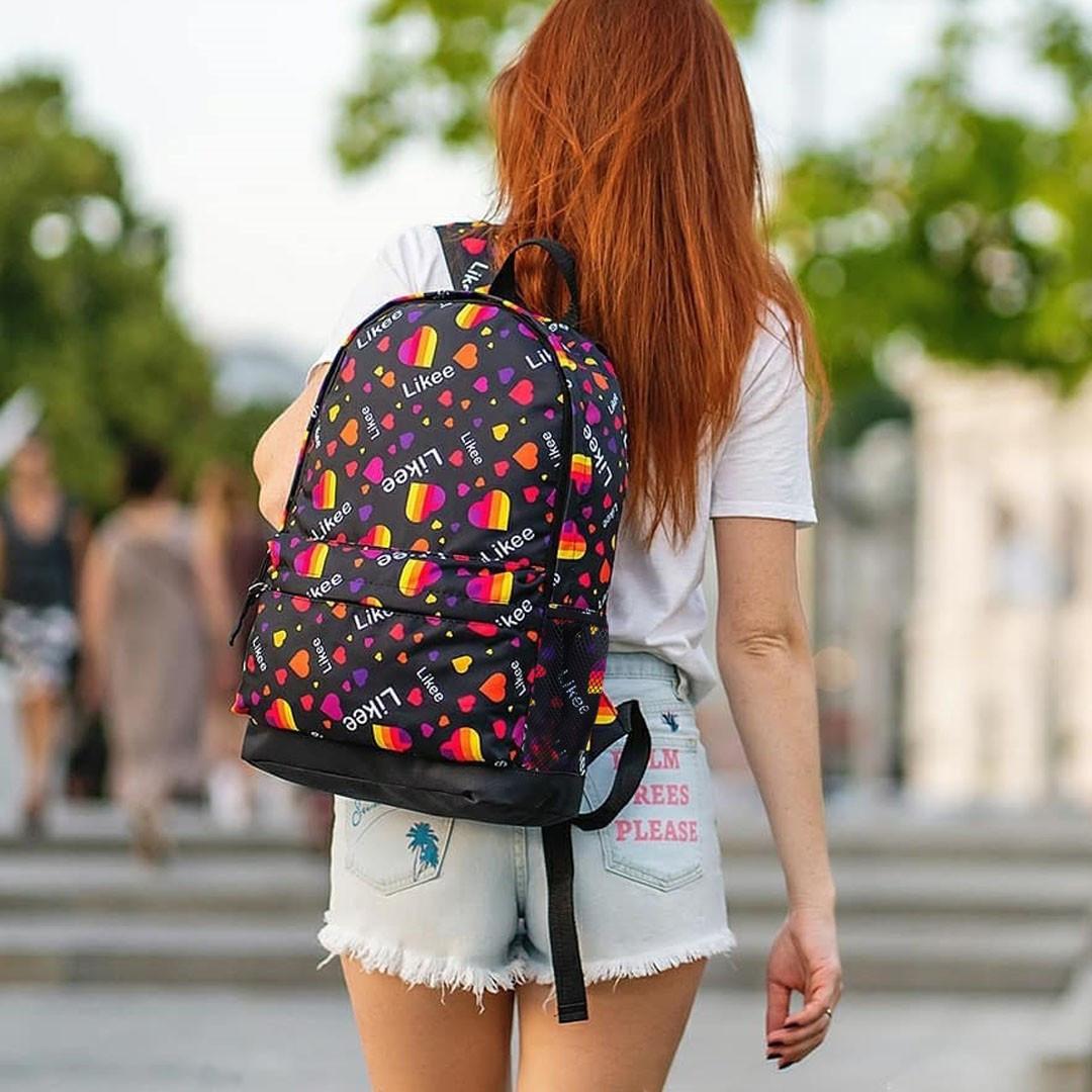 Стильный рюкзак с принтом Likee. Для путешествий, тренировок, учебы