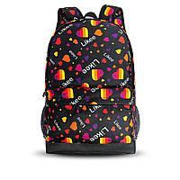 Стильний рюкзак з принтом Likee. Для подорожей, тренувань, навчання, фото 2