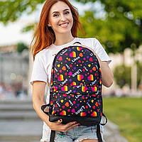 Стильний рюкзак з принтом Likee. Для подорожей, тренувань, навчання, фото 3