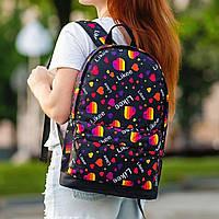 Стильний рюкзак з принтом Likee. Для подорожей, тренувань, навчання, фото 4
