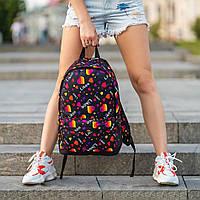 Стильний рюкзак з принтом Likee. Для подорожей, тренувань, навчання, фото 6