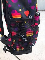 Стильний рюкзак з принтом Likee. Для подорожей, тренувань, навчання, фото 8