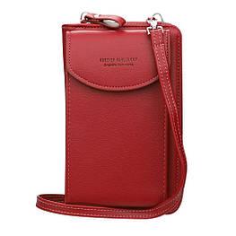 Жіночий гаманець-клатч, сумочка Baellerry Forever. Червоний
