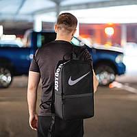 Черный спортивный рюкзак найк сетка, Nike. Для тренировок, учебы., фото 5