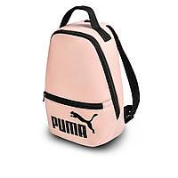 Рожевий жіночий невеликий рюкзак Puma, пума. Кожзам, фото 3