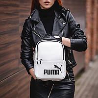 Женский стильный рюкзак Puma, пума. Белый. Кожзам, фото 6