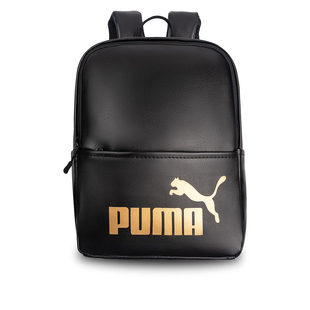 Жіночий стильний рюкзак Puma, пума. Чорний. Кожзам