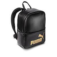 Женский стильный рюкзак Puma, пума. Черный. Кожзам, фото 2