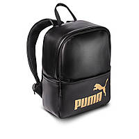 Жіночий стильний рюкзак Puma, пума. Чорний. Кожзам, фото 2