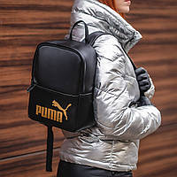 Жіночий стильний рюкзак Puma, пума. Чорний. Кожзам, фото 5
