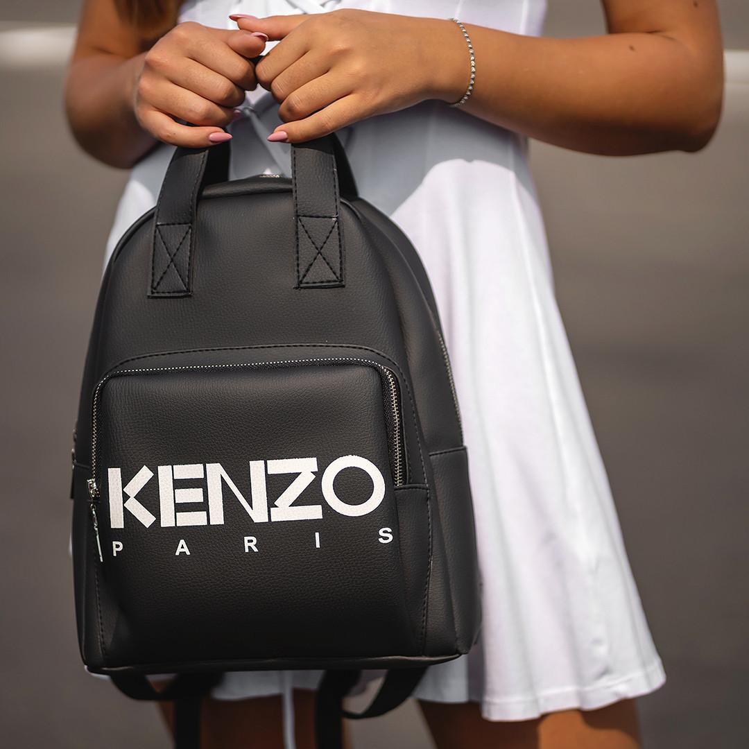 Стильный черный женский рюкзак из экокожи.