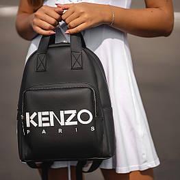 Стильний чорний жіночий рюкзак з екошкіри.