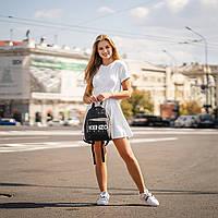 Стильний чорний жіночий рюкзак з екошкіри., фото 2