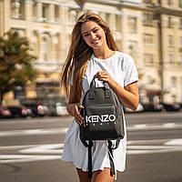 Стильный черный женский рюкзак из экокожи., фото 3