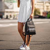 Стильный черный женский рюкзак из экокожи., фото 5