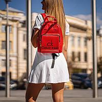Червоний жіночий рюкзак з шкіри PU. Стильний та зручний, фото 2