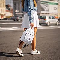 Білий жіночий рюкзак з шкіри PU. Стильний та зручний, фото 3