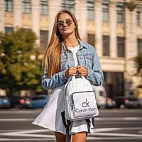 Білий жіночий рюкзак з шкіри PU. Стильний та зручний, фото 4