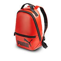 Червоний жіночий невеликий рюкзак Puma, пума. Кожзам, фото 2
