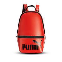 Червоний жіночий невеликий рюкзак Puma, пума. Кожзам, фото 5