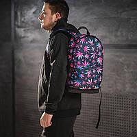 Яркий рюкзак с принтом Конопля, цветной. Для путешествий, тренировок, учебы, фото 2