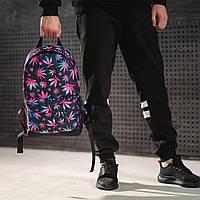 Яркий рюкзак с принтом Конопля, цветной. Для путешествий, тренировок, учебы, фото 3