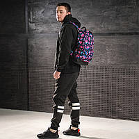 Яскравий рюкзак з принтом Коноплі, кольоровий. Для подорожей, тренувань, навчання, фото 4
