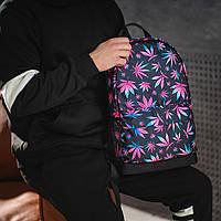 Яскравий рюкзак з принтом Коноплі, кольоровий. Для подорожей, тренувань, навчання, фото 5