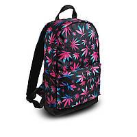Яскравий рюкзак з принтом Коноплі, кольоровий. Для подорожей, тренувань, навчання, фото 6