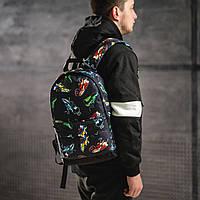 Яскравий рюкзак з принтом кросівки кольорові Air Max. Для подорожей, тренувань, навчання, фото 2