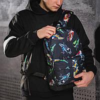 Яскравий рюкзак з принтом кросівки кольорові Air Max. Для подорожей, тренувань, навчання, фото 3