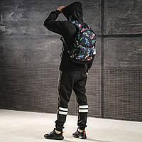 Яскравий рюкзак з принтом кросівки кольорові Air Max. Для подорожей, тренувань, навчання, фото 6