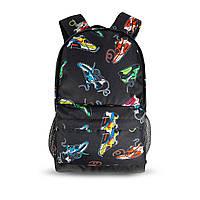 Яскравий рюкзак з принтом кросівки кольорові Air Max. Для подорожей, тренувань, навчання, фото 7