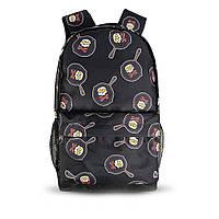 Яскравий рюкзак з принтом черепки сковорода. Для подорожей, тренувань, навчання, фото 7