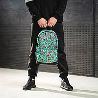 Крутий рюкзак з принтом кастет гармата. Для подорожей, тренувань, навчання, фото 5
