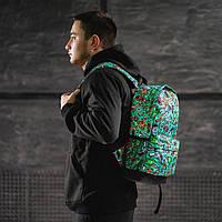 Крутий рюкзак з принтом кастет гармата. Для подорожей, тренувань, навчання, фото 7