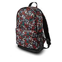 Класний рюкзак з принтом черепа квіти. Для подорожей, тренувань, навчання, фото 5