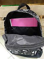 Класний рюкзак з принтом черепа квіти. Для подорожей, тренувань, навчання, фото 8