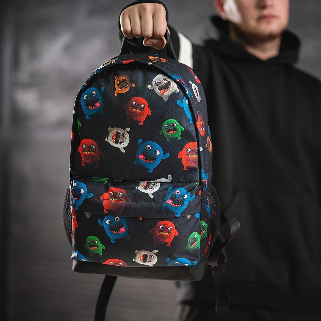 Классный рюкзак с принтом Монстрики. Для путешествий, тренировок, учебы