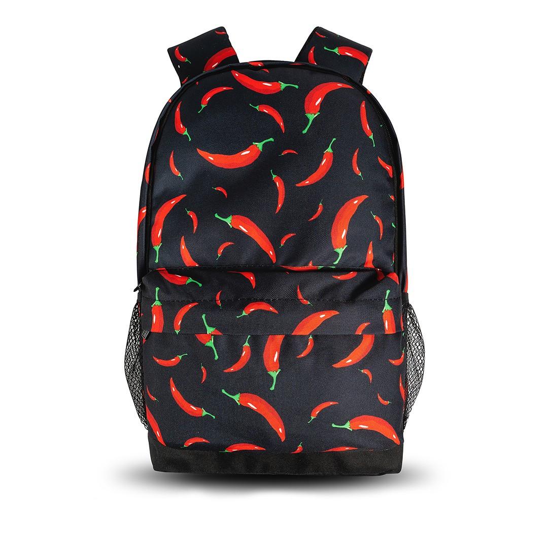 Класний рюкзак з принтом перець Чилі. Для подорожей, тренувань, навчання