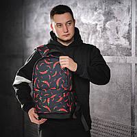 Класний рюкзак з принтом перець Чилі. Для подорожей, тренувань, навчання, фото 3