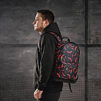 Класний рюкзак з принтом перець Чилі. Для подорожей, тренувань, навчання, фото 6