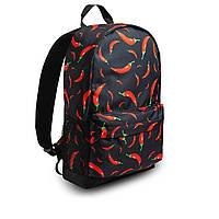 Класний рюкзак з принтом перець Чилі. Для подорожей, тренувань, навчання, фото 7