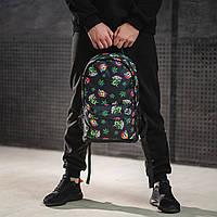 Крутой рюкзак с принтом Пришельцы Конопля. Для путешествий, тренировок, учебы, фото 2