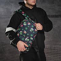 Крутой рюкзак с принтом Пришельцы Конопля. Для путешествий, тренировок, учебы, фото 4
