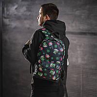 Крутой рюкзак с принтом Пришельцы Конопля. Для путешествий, тренировок, учебы, фото 5