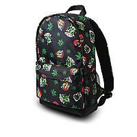 Крутой рюкзак с принтом Пришельцы Конопля. Для путешествий, тренировок, учебы, фото 6