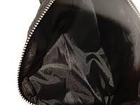 Стильна шкіряна чорна поясна сумка, бананка Calvin Clain, кельвін., фото 5